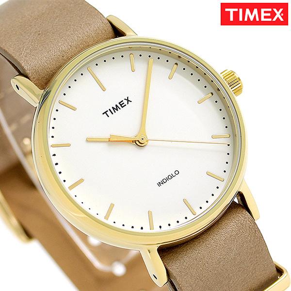 タイメックス ウィークエンダー フェアフィールド 37mm TW2P98400 TIMEX 腕時計 クリーム 時計【あす楽対応】