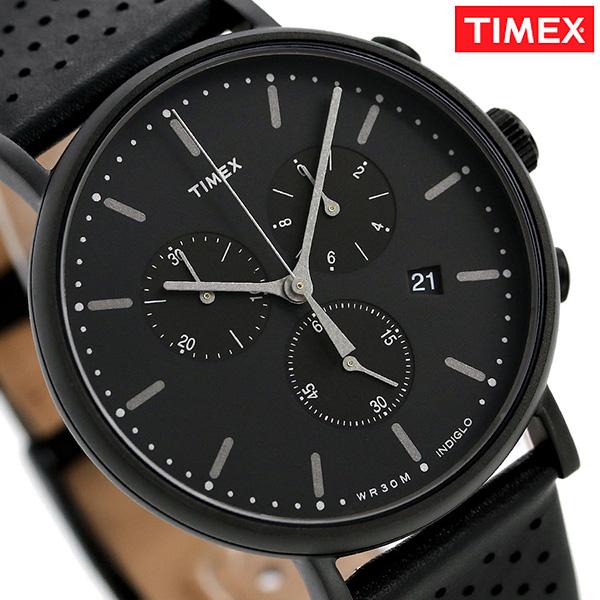 タイメックス ウィークエンダー フェアフィールド 41mm クロノグラフ TW2R26800 TIMEX 腕時計 革ベルト 時計【あす楽対応】