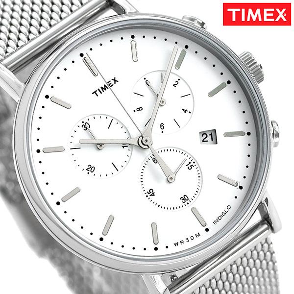 タイメックス ウィークエンダー フェアフィールド 41mm クロノグラフ TW2R27100 TIMEX 腕時計 シルバー 時計【あす楽対応】