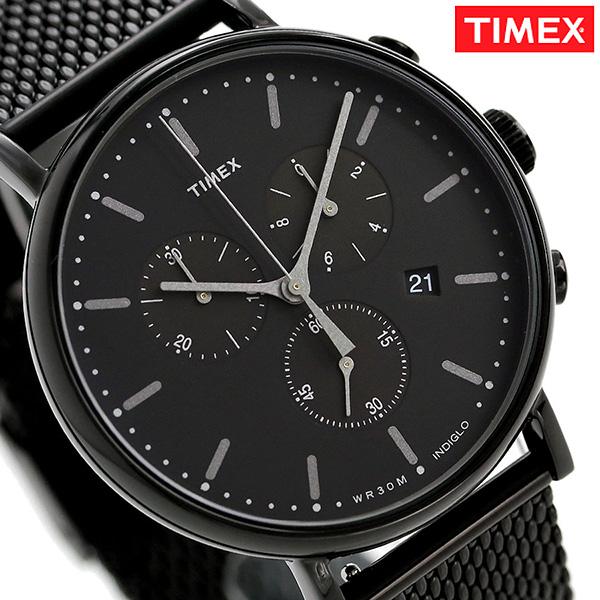 タイメックス ウィークエンダー フェアフィールド 41mm クロノグラフ TW2R27300 TIMEX 腕時計 オールブラック 時計【あす楽対応】