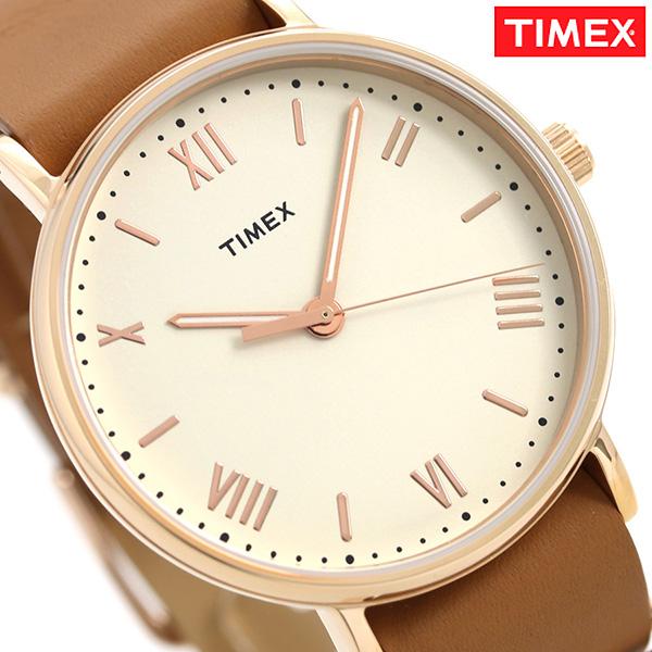 タイメックス サウスビュー 41mm 革ベルト メンズ 腕時計 TW2R28800 TIMEX ベージュ×ライトブラウン 時計【あす楽対応】