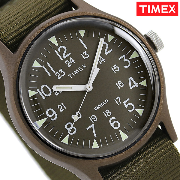 9a39e9fca nanaple: Timex MK1 aluminum 40mm men's watch TW2R37500 TIMEX olive ...