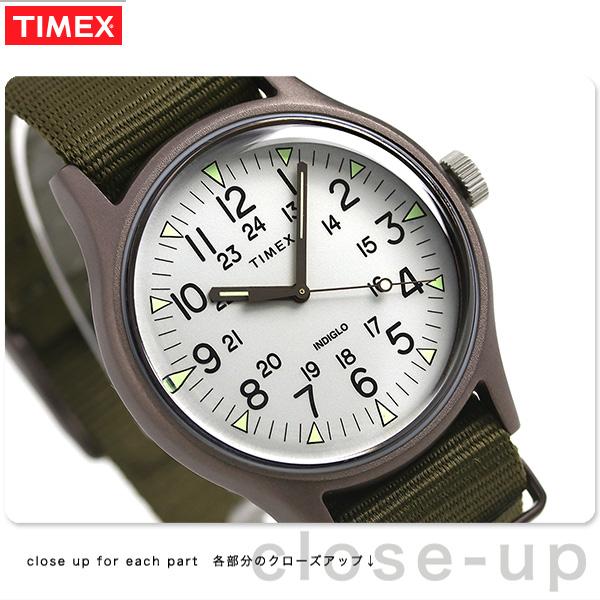 タイメックス MK1 アルミニウム 40mm メンズ 腕時計 TW2R37600 TIMEX グレーシルバー×オリーブ 時計【あす楽対応】