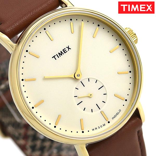 タイメックス フェアフィールド 41mm スモールセコンド TW2R37900 TIMEX 腕時計 革ベルト 時計