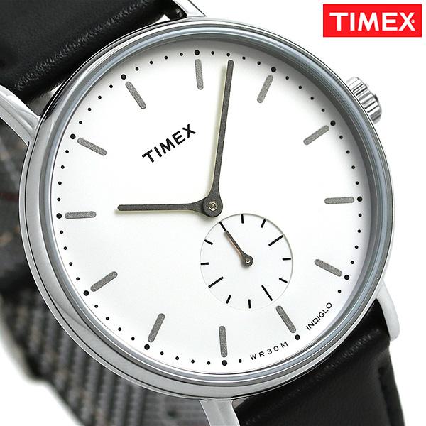 タイメックス フェアフィールド 41mm スモールセコンド TW2R38000 TIMEX 腕時計 革ベルト 時計【あす楽対応】