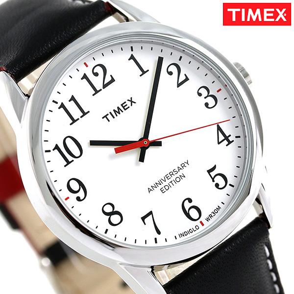 タイメックス イージーリーダー 記念モデル 38mm 革ベルト TW2R40000 TIMEX 腕時計 ブラック 時計