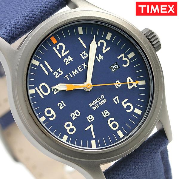 タイメックス アライド 40mm カレンダー 革ベルト メンズ TW2R46200 TIMEX 腕時計 ブルー 時計【あす楽対応】