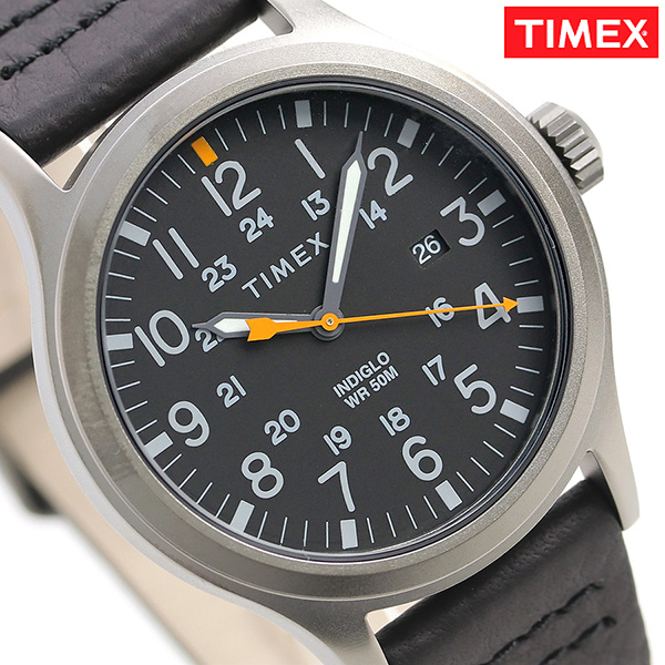 Timex Allied Corp  40mm calendar leather belt men TW2R46500 TIMEX watch oar  black clock