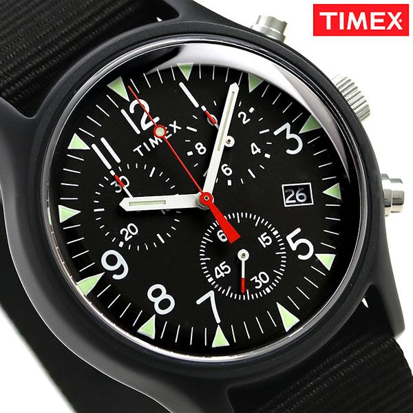店内ポイント最大43倍!16日1時59分まで! タイメックス MK1 アルミニウム クロノグラフ 40mm TW2R67700 TIMEX 腕時計 オールブラック 時計