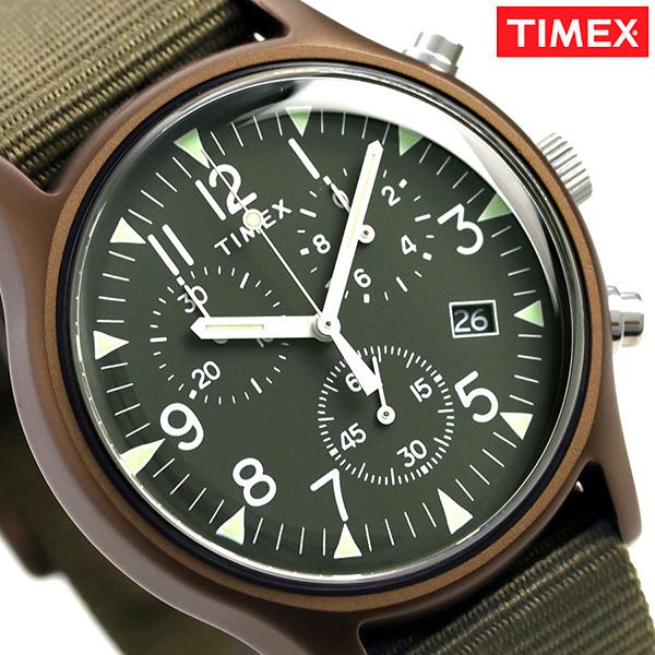タイメックス MK1 アルミニウム クロノグラフ 40mm TW2R67800 TIMEX 腕時計 オリーブ 時計