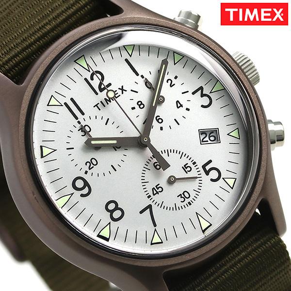 タイメックス MK1 アルミニウム クロノグラフ 40mm TW2R67900 TIMEX 腕時計 グレーシルバー×カーキ 時計【あす楽対応】