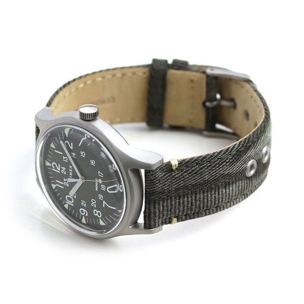 16947028b ... Timex MK1 steel 40mm quartz men watch TW2R68100 TIMEX olive clock ...