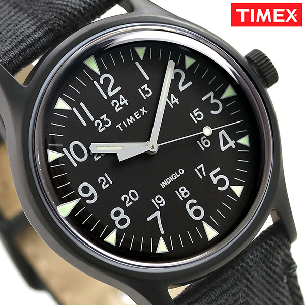 ee6943699 Timex MK1 steel 40mm quartz men watch TW2R68200 TIMEX oar black clock ...