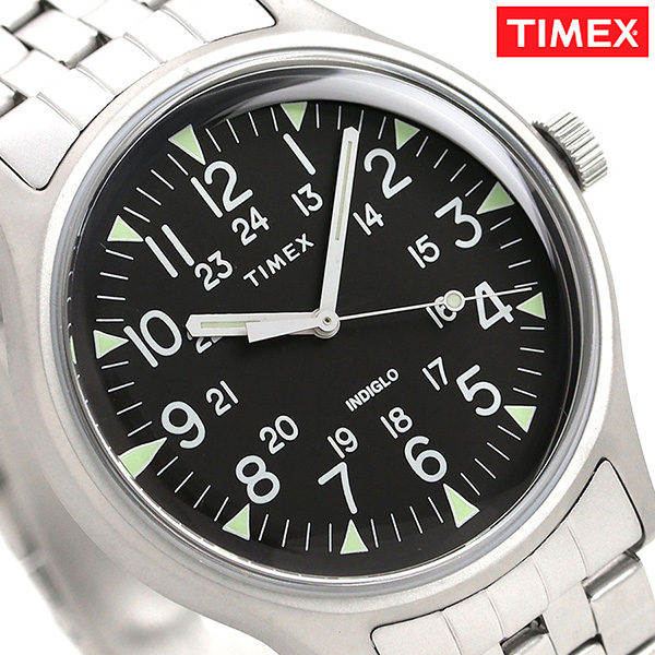 44f57b68f nanaple: Timex MK1 steel 40mm quartz men watch TW2R68400 TIMEX black ...