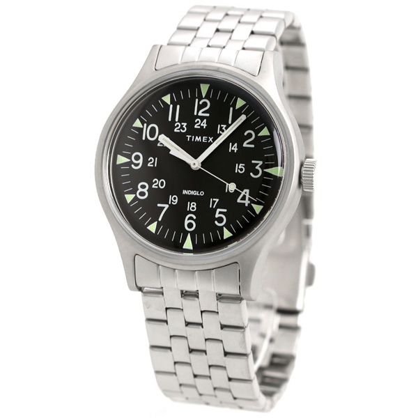 2b725077b ... Timex MK1 steel 40mm quartz men watch TW2R68400 TIMEX black clock ...