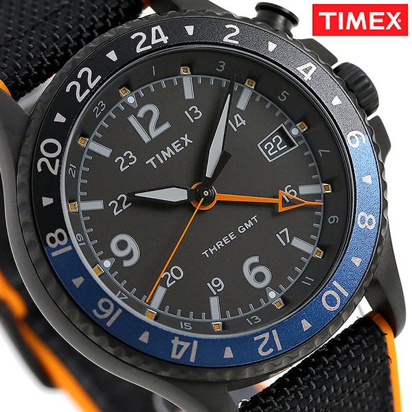 タイメックス アライド スリー GMT 10気圧防水 TW2R70600 TIMEX メンズ 腕時計 ブラック 時計【あす楽対応】