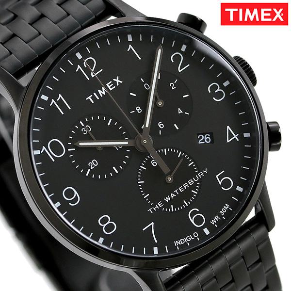 タイメックス ウォ-ターベリー クラシック クロノグラフ TW2R72200 TIMEX メンズ 腕時計 オールブラック 時計