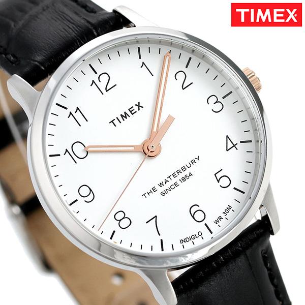 タイメックス ウォ-ターベリー クラシック 36mm 革ベルト TW2R72400 TIMEX 腕時計 ホワイト×ブラック 時計【あす楽対応】