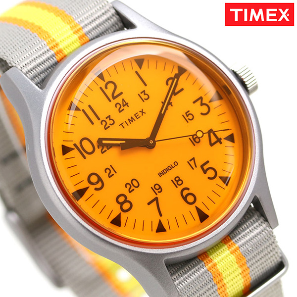 f2ec0c122 Timex watch MK1 California men gap Dis TW2T25500 TIMEX clock orange X gray  ...
