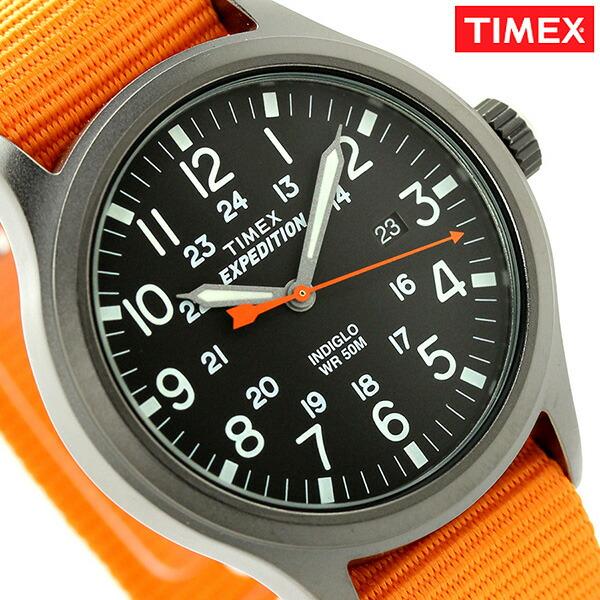 タイメックス エクスペディション スカウト メンズ 腕時計 TW4B04600 TIMEX ブラック×オレンジ 時計【あす楽対応】