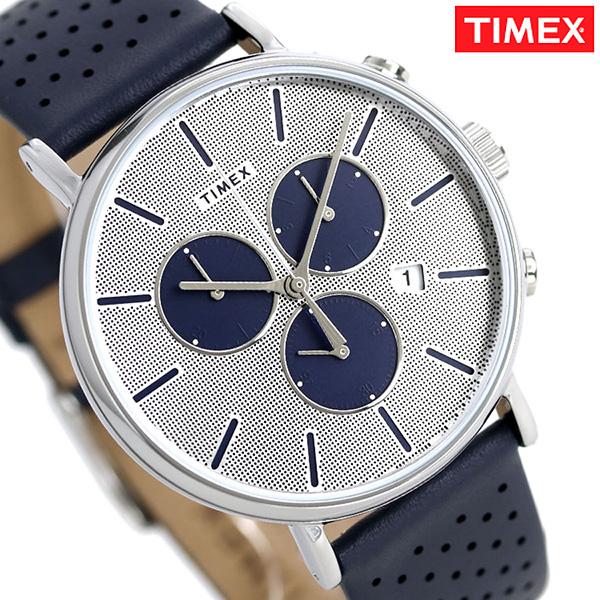 タイメックス フェアフィールド メンズ 腕時計 TW2R97700 TIMEX 時計 シルバー×ブルー【あす楽対応】