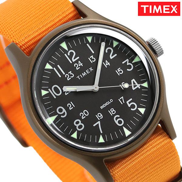 タイメックス MK1 アルミニウム メンズ 腕時計 TW2T10200 TIMEX 時計 ブラック×オレンジ【あす楽対応】