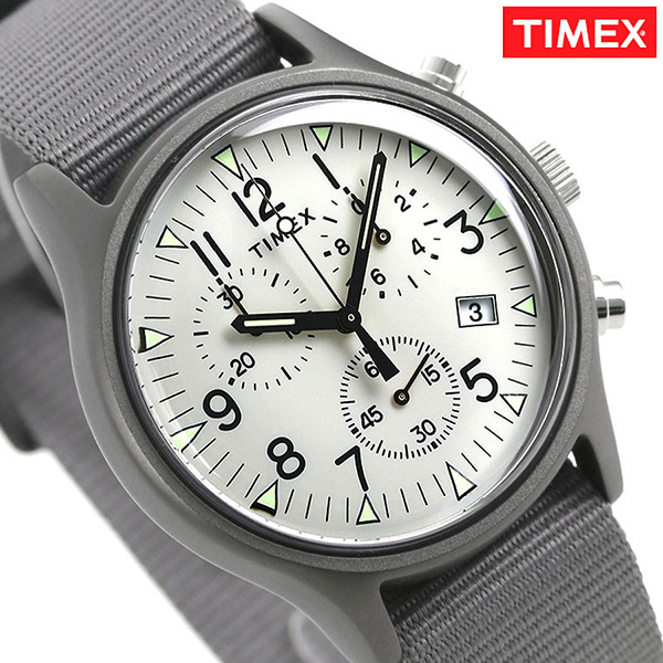 c4965a026 Timex MK1 aluminum chronograph men watch TW2T10900 TIMEX clock gray ...
