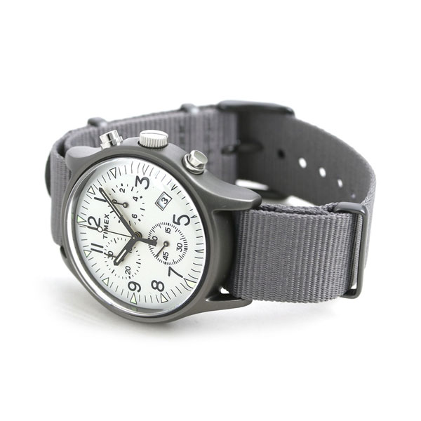 19525dfa7 ... Timex MK1 aluminum chronograph men watch TW2T10900 TIMEX clock gray ...