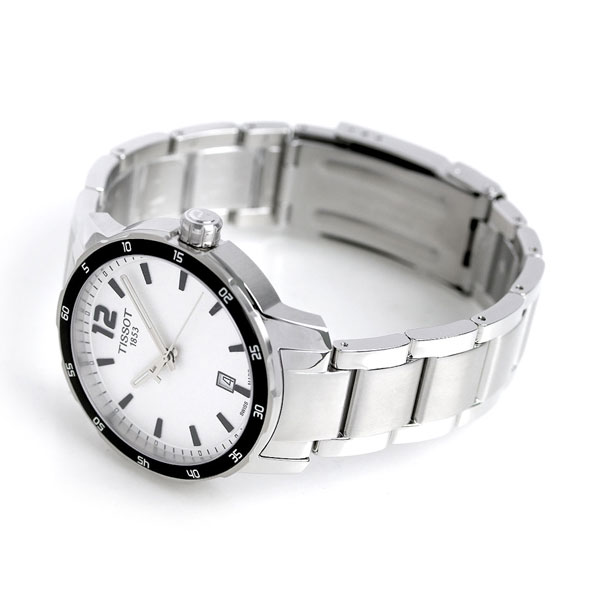 Nanaple tissot t sports quick star 40mm men 39 s watch t095 tissot silver clock for Celebrity tissot watches