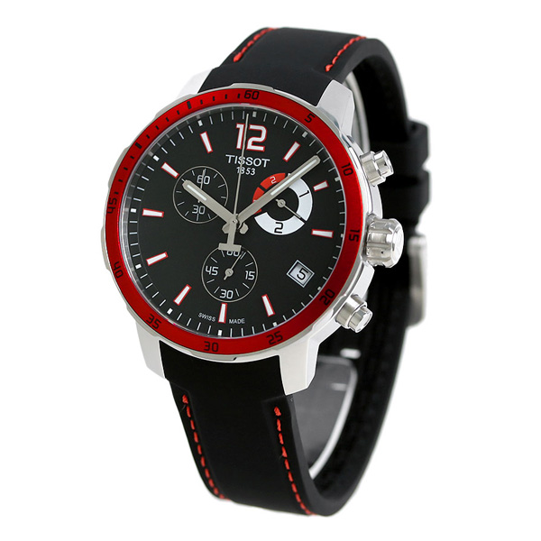 Nanaple tissot t sports quick star chronograph football 42mm t095 tissot watch for Celebrity tissot watches