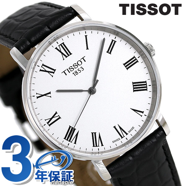 ティソ 腕時計 T-クラシック エブリタイム ミディアム 38mm メンズ T109.410.16.033.01 TISSOT 時計
