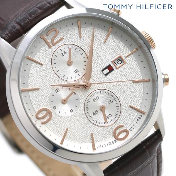 トミー ヒルフィガー デュアルタイム リアム 42mm メンズ 1710360 TOMMY HILFIGER 腕時計 革ベルト 時計【あす楽対応】