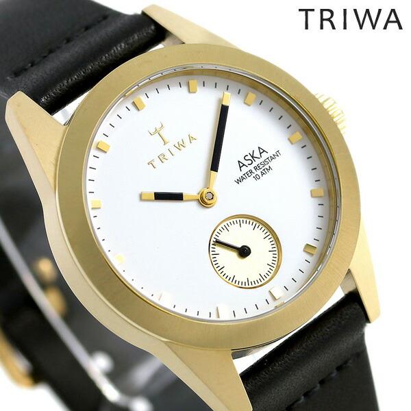トリワ TRIWA アスカ アイボリー 32mm レディース 腕時計 AKST101-SS010113 ホワイト×ブラック 時計【あす楽対応】