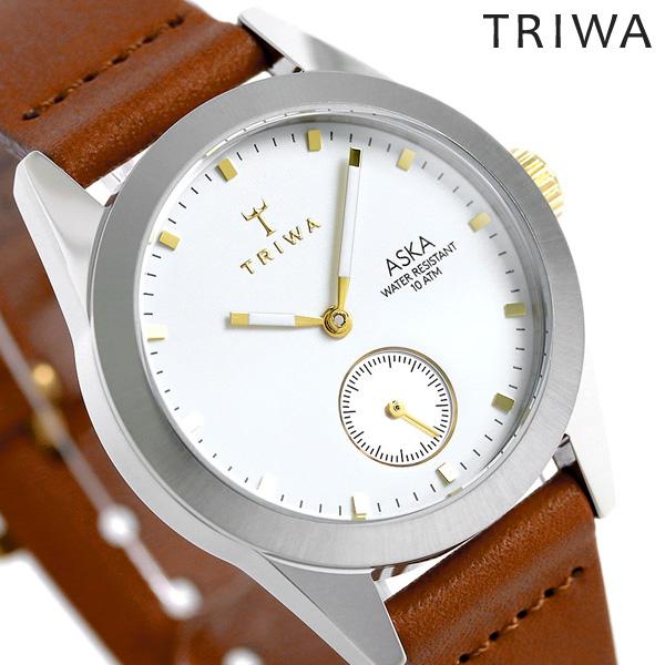 トリワ TRIWA アスカ スノー 32mm レディース 腕時計 AKST102-SS010213 ホワイト×ブラウン 時計【あす楽対応】