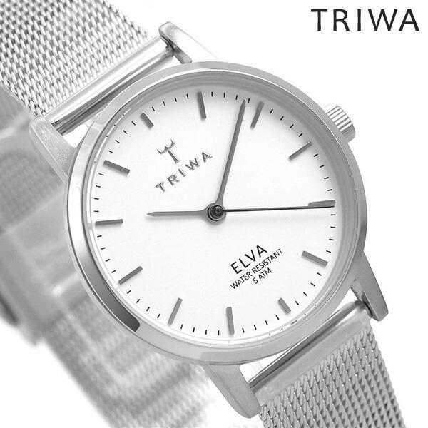 店内ポイント最大43倍!16日1時59分まで! TRIWA トリワ 時計 スウェーデン 北欧 シンプル メッシュベルト 28mm レディース 腕時計 エルバ ELST101-EM021212【あす楽対応】