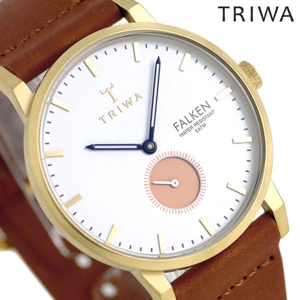 トリワ TRIWA 時計 メンズ レディース 北欧 スウェーデン スモールセコンド 38mm FAST113-CL010213 ファルケン 革ベルト 腕時計【あす楽対応】