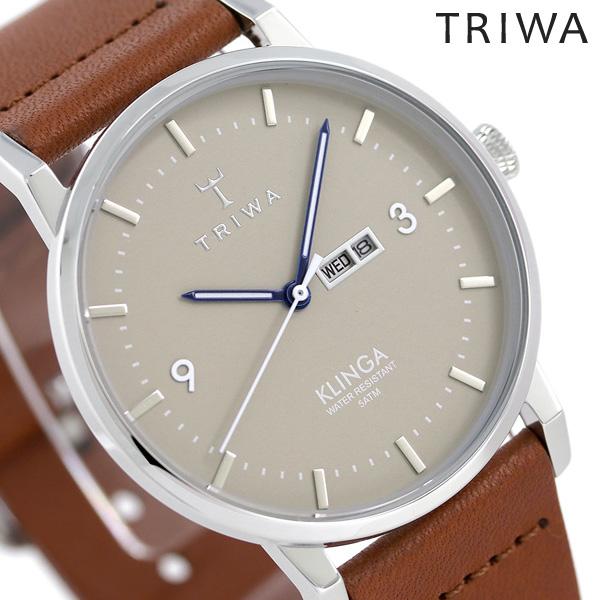 トリワ TRIWA 時計 メンズ レディース 北欧 スウェーデン カレンダー 38mm KLST105-CL010212 クリンガ 革ベルト 腕時計【あす楽対応】