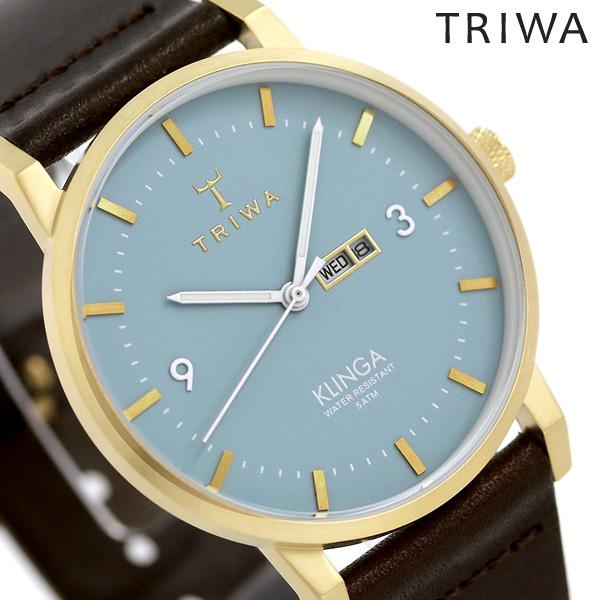 トリワ TRIWA クリンガ アークティク 38mm 腕時計 KLST106-CL010413 ブルー×ダークブラウン 時計【あす楽対応】
