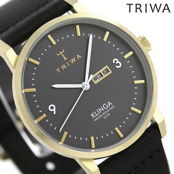 トリワ TRIWA クリンガ アッシュ 38mm 腕時計 KLST107-CL010117 グレー×ブラック 時計【あす楽対応】