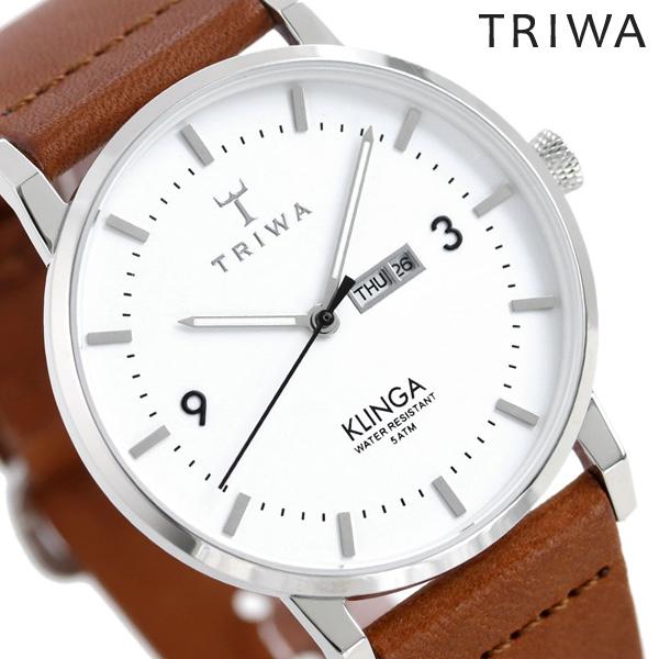 TRIWA トリワ 時計 スウェーデン 北欧 デイデイト カレンダー 38mm ユニセックス 腕時計 クリンガ KLST109-CL010212【あす楽対応】