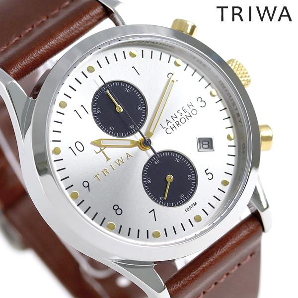 トリワ TRIWA 時計 メンズ レディース 北欧 スウェーデン クロノグラフ 38mm LCST115-CL010312 ランセン 革ベルト 腕時計