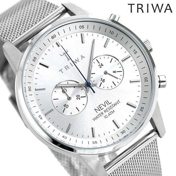 トリワ TRIWA 時計 スチールネヴィル メンズ レディース 腕時計 NEST101-2-ME021212 シルバー 【あす楽対応】