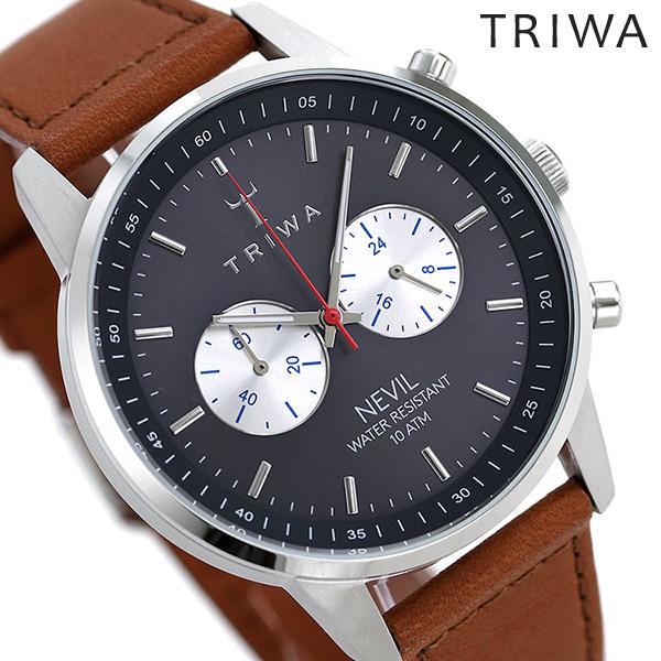 トリワ TRIWA 時計 ネヴィル メンズ レディース 腕時計 NEST108-2-SC010212 ネイビー×ブラウン【あす楽対応】