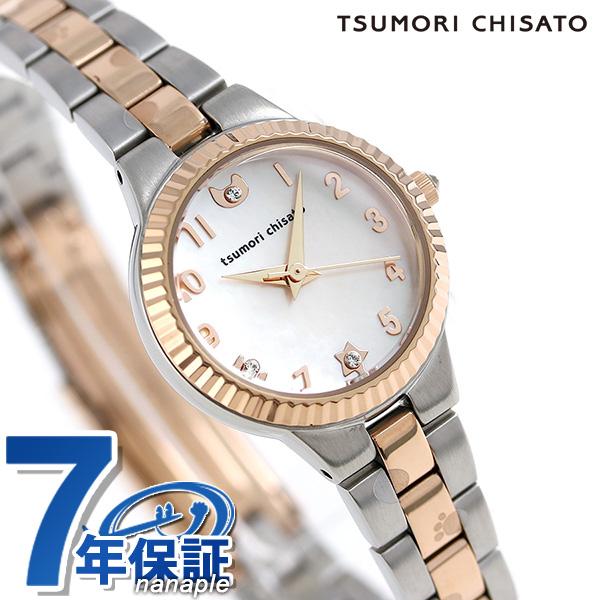 ツモリチサト ぷちねこ クオーツ レディース 腕時計 NTAZ002 tsumori chisato ライトピーチシェル 時計