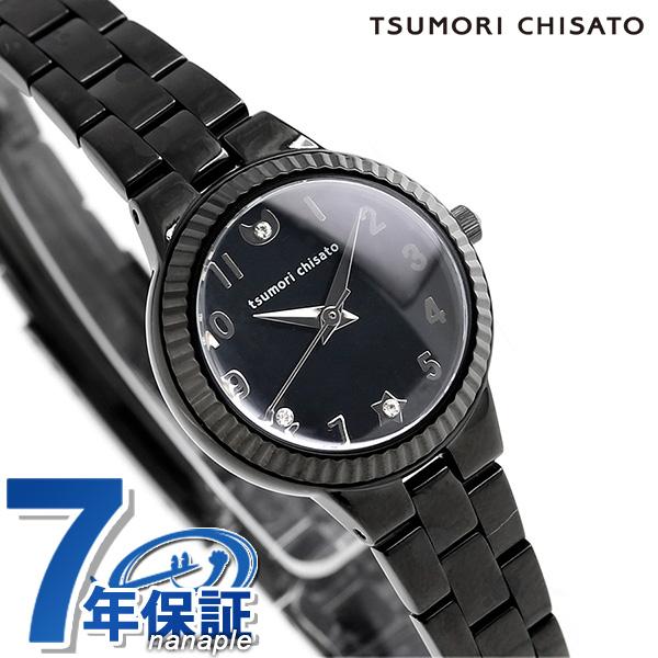ツモリチサト ぷちねこ クオーツ レディース 腕時計 NTAZ004 tsumori chisato オールブラック 時計