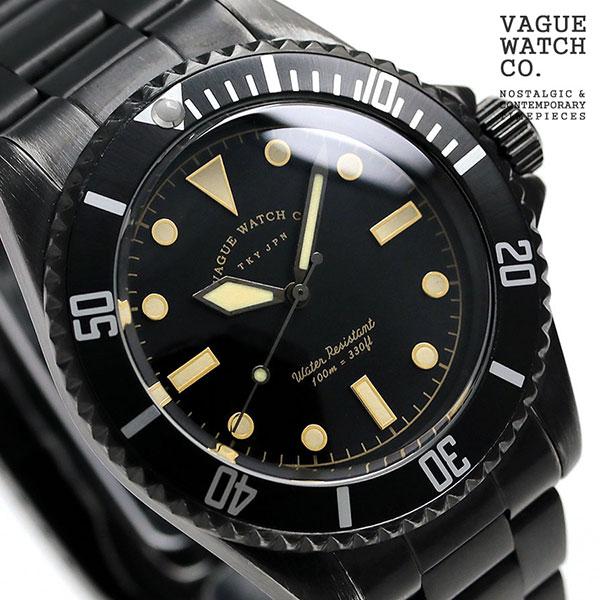 【10日はさらに+4倍で店内ポイント最大53倍】 ヴァーグウォッチ ブラック サブ 40mm メンズ 腕時計 BS-L-001-SB VAGUE WATCH Co. 時計