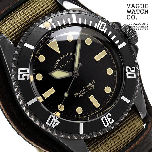 ヴァーグウォッチ ブラック サブ 40mm メンズ 腕時計 BS-L-B001 VAGUE WATCH Co. 時計