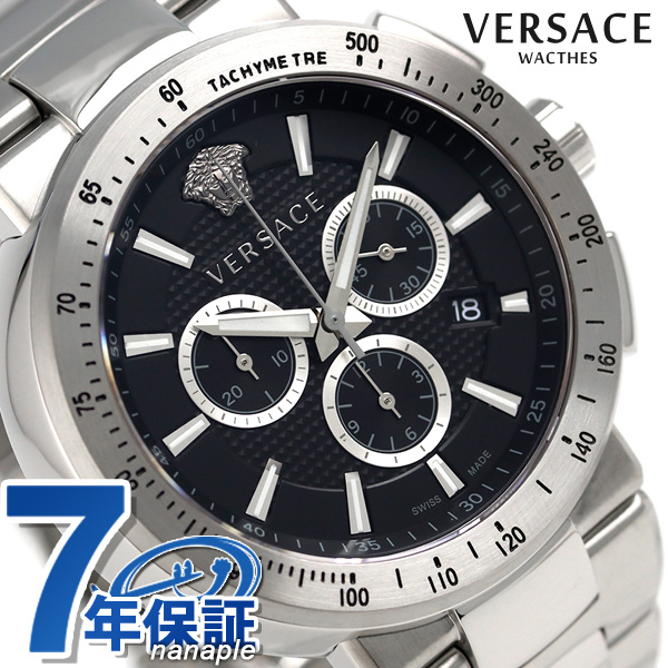 Versace Mystic sports chronograph watch VFG170016 VERSACE black is new