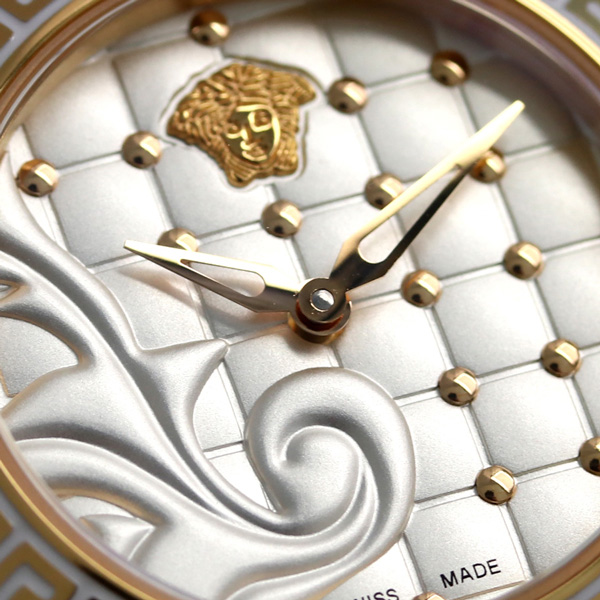 Lady's VQM020015 VERSACE watch silver X white new article made in ヴェルサーチマイクロヴァニタススイス