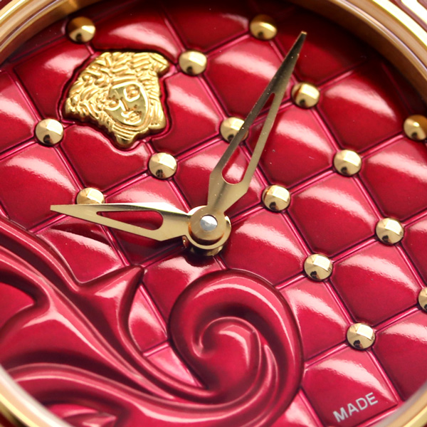 verusachimaikurovanitasusuisu製造女士VQM030015 VERSACE手錶紅新貨
